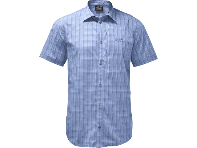 Jack Wolfskin Rays Stretch Vent Shirt Herren shirt blue checks